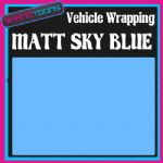 2M X 1520mm VEHICLE CAR VAN WRAP MATT SKY BLUE FINISH STYLING GRAPHICS